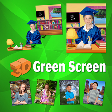 3D Green screen